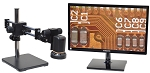 HDAF100DU-M22 HDAF100 Auto Focus HD 1080p Digital Microscope with Dual Gliding Arm Stand and Optional HD Monitor