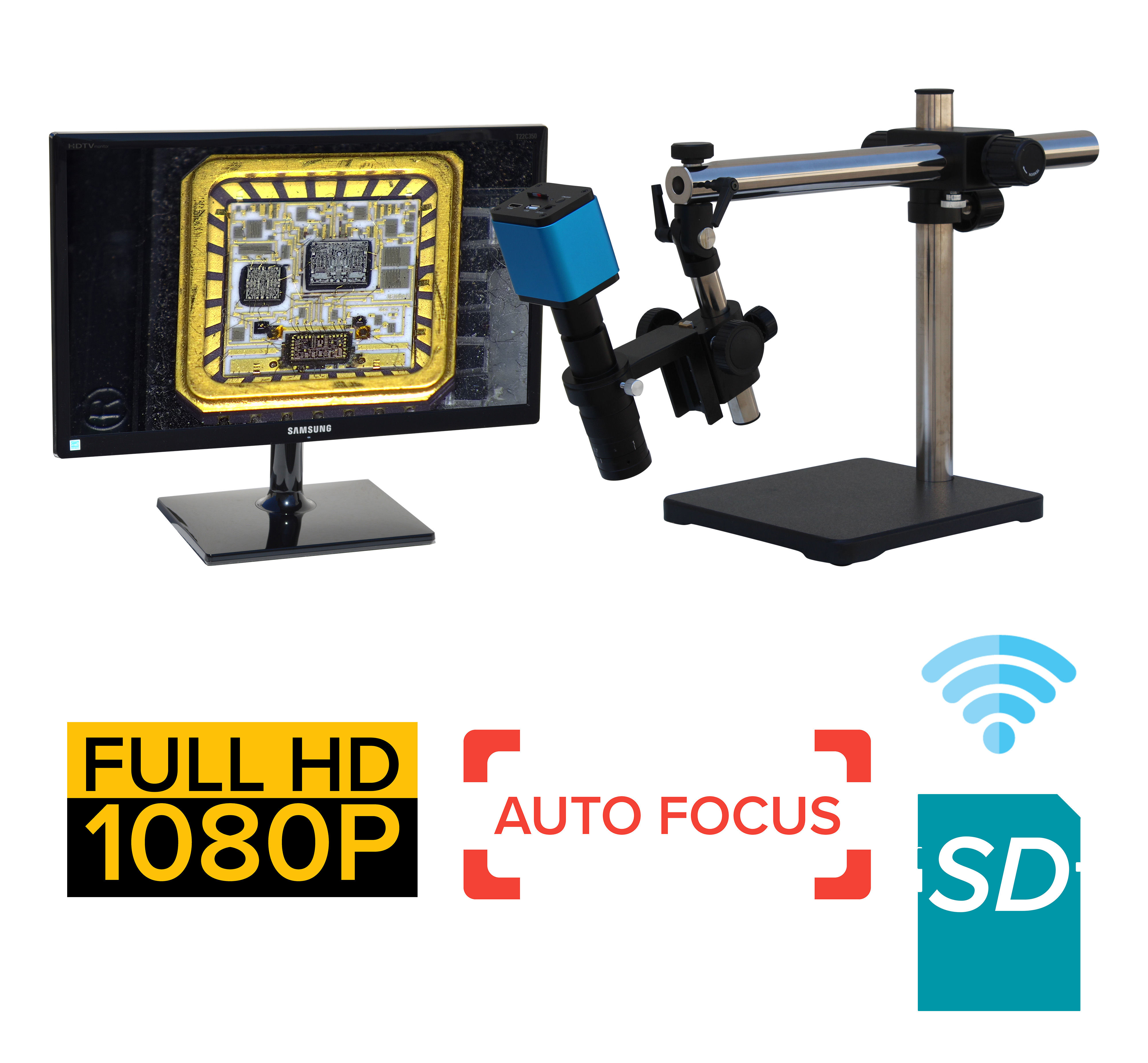 eHDAF205 series standard 24x-160x or possible 12x-320x Auto Focus + Wi-Fi + HD1080p + SD card [Start at $950]