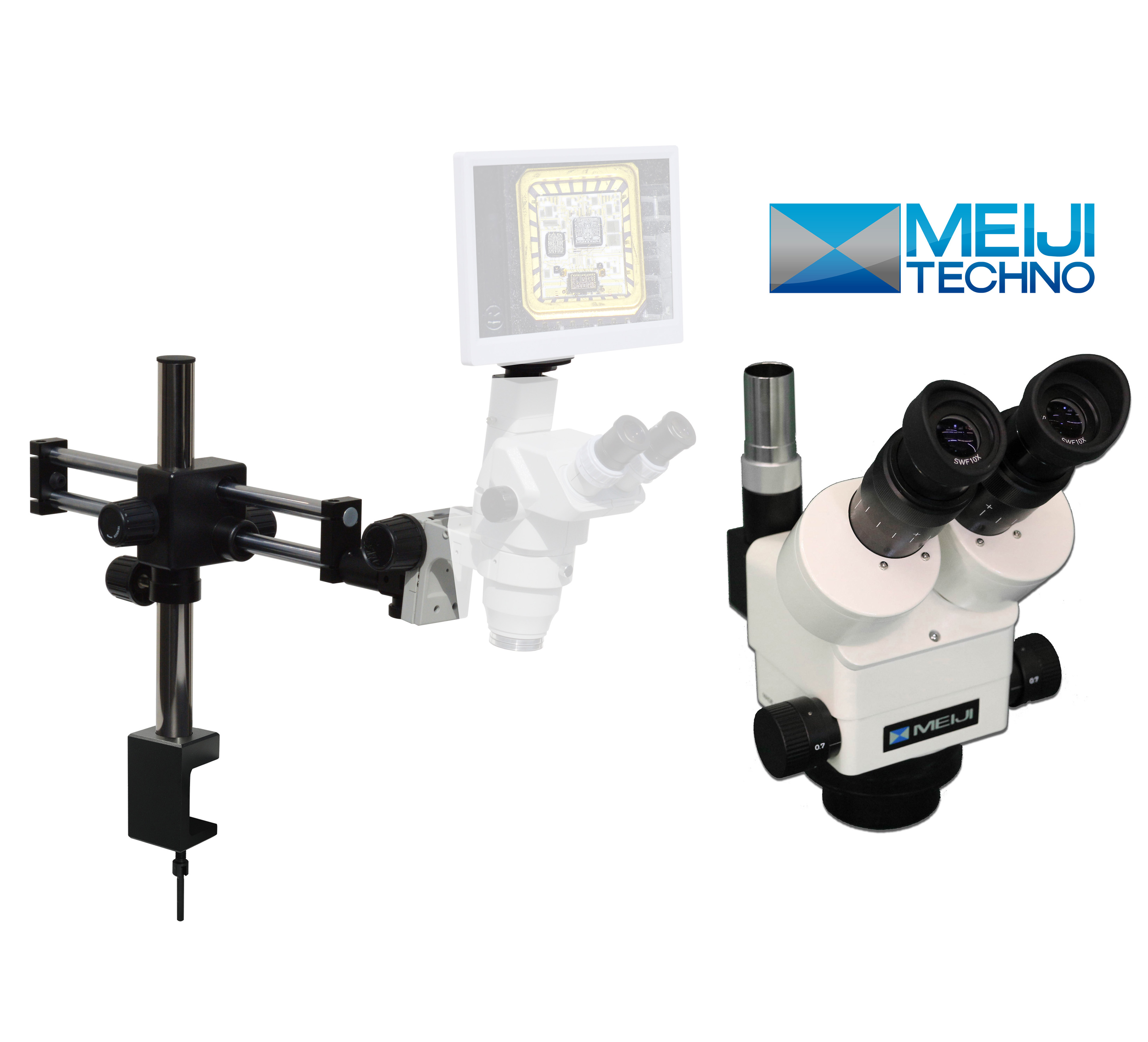 eTR800 Trinocular Meiji Techno Digital Microscope series 1.96x-270x [Starting at $1890]
