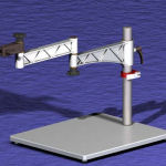 Swing Arm Workstation Stand Components