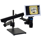 eHD801LABm12 HD 1080p Digital Microscope (2x-59x) with Articulating Arm Stand and 11.6 inch Retina HD Display