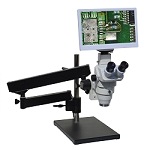 "HD8TR-LABm12 HD 1080p Digital Microscope with Articulating Arm Stand and 11.6"" Retina HD Display"