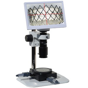 eHD801LBSm12XY HD 1080p Digital Microscope (2x-59x) with Basic Stand, 11.6 inch Retina HD Display, Measurement Stage