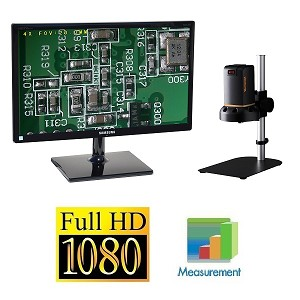 HDAF100 Auto Focus HD 1080p Digital Microscope with Basic Stand and Optional HD Monitor