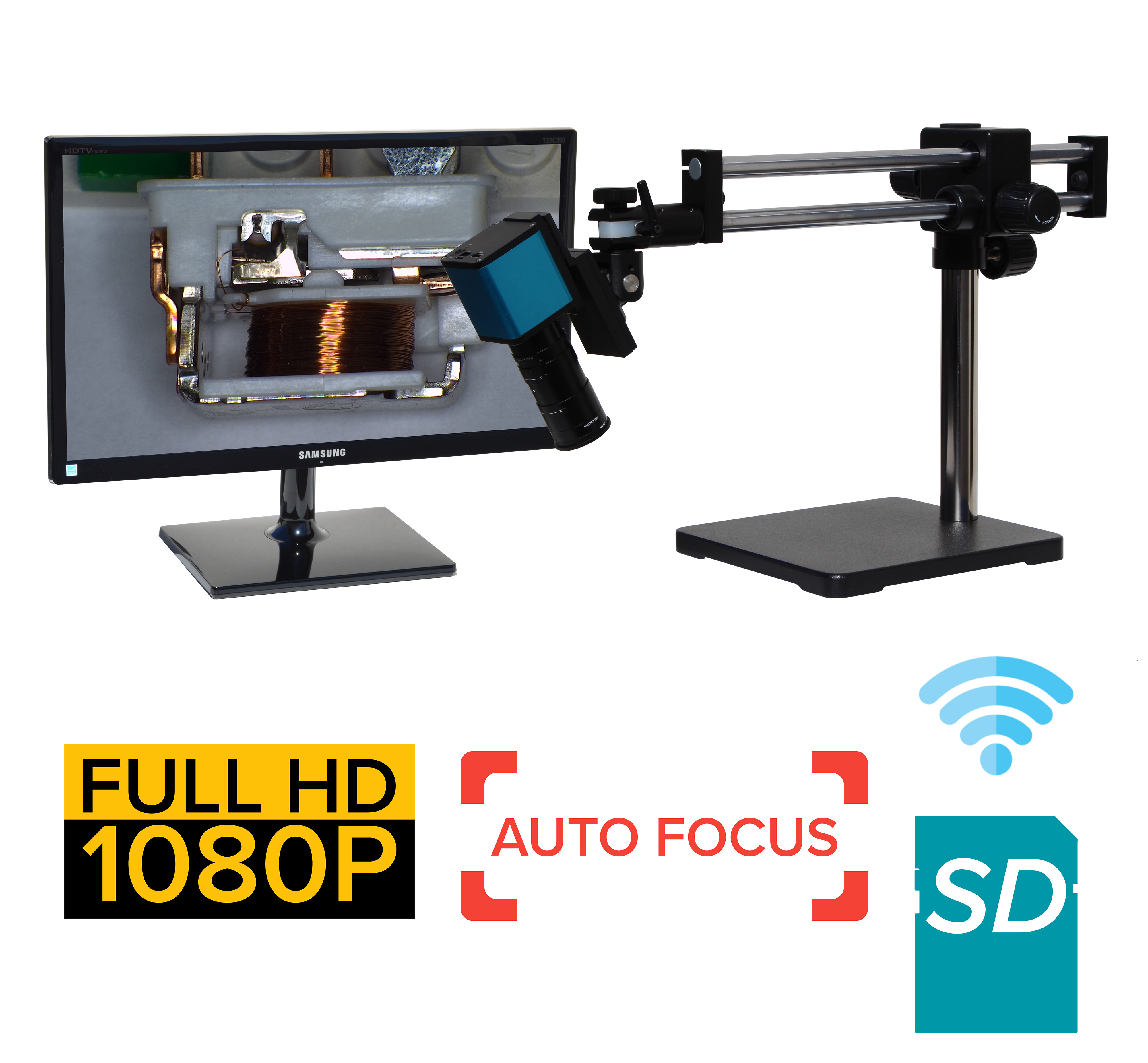 eHDAF207 series 2x-75x or 4x-150x Auto Focus + Wi-Fi + HD1080p + SD card [Start at $1700]