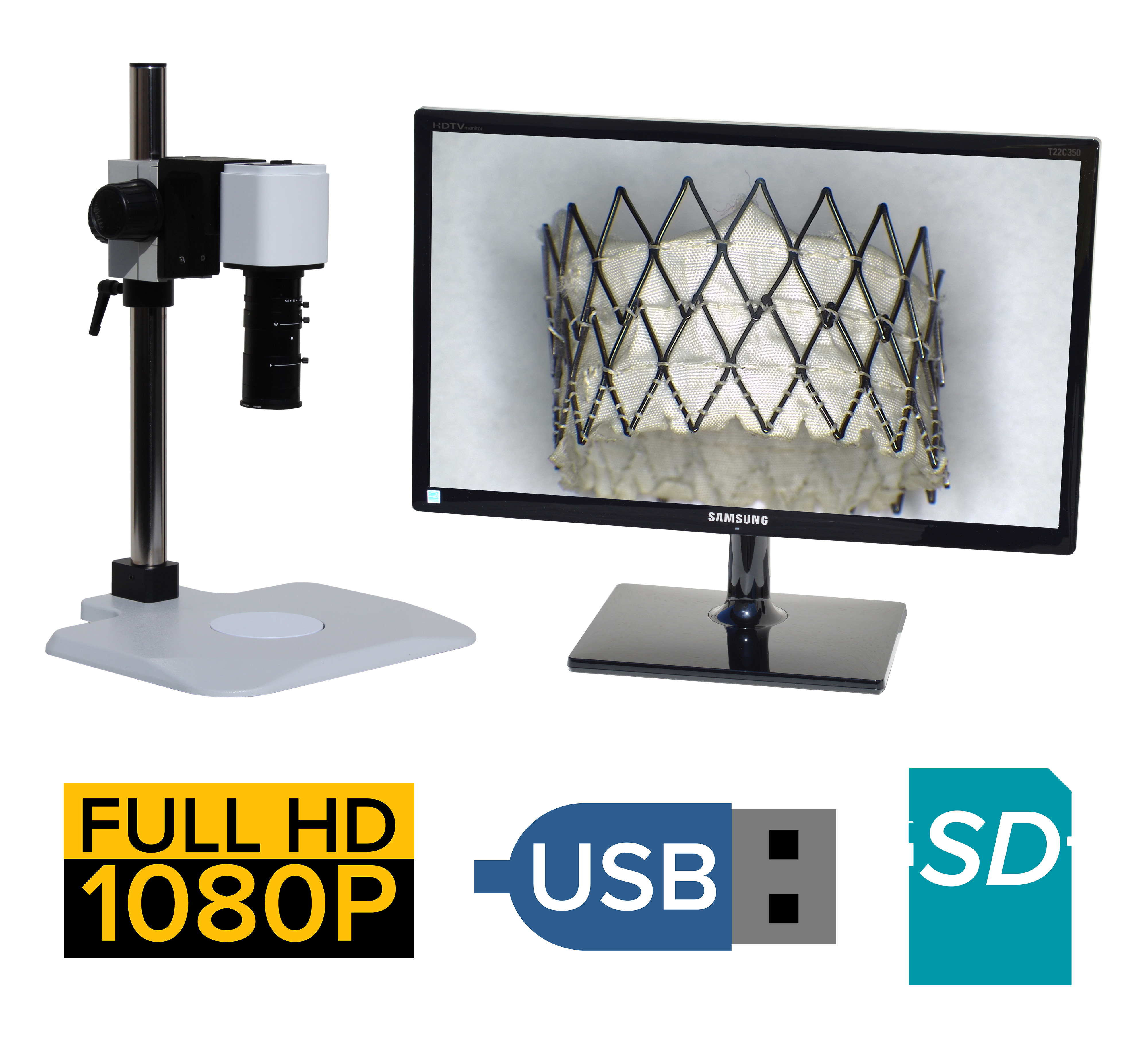 eHD807 series 2x-100x or 4x-200x + HD1080p + SD Card + USB + Measurement Option [Starting at $1500]