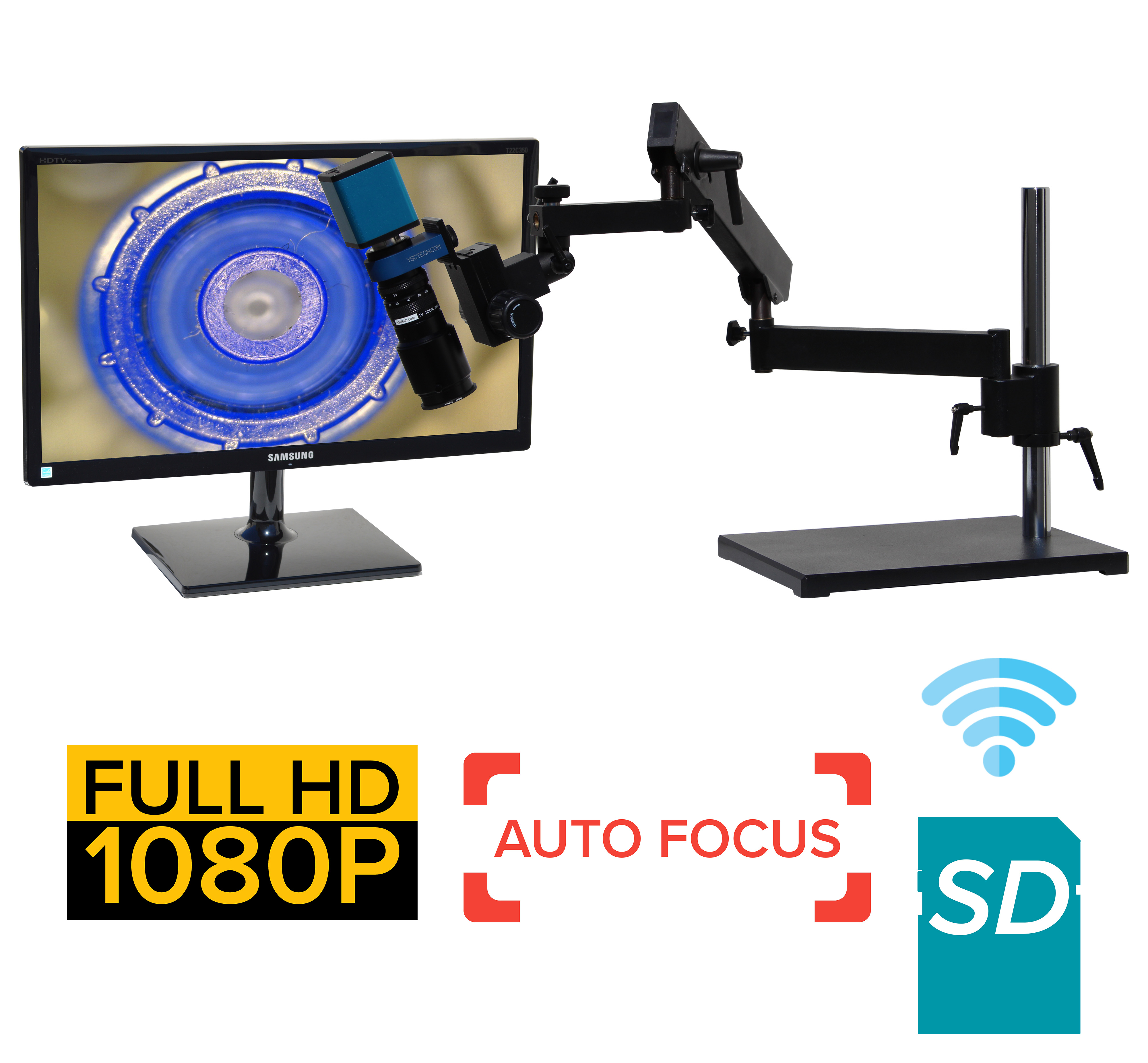 eHDAF201 series 4x-91x or 8x-182x Auto Focus + Wi-Fi + HD1080p + SD card [Start at $2000]