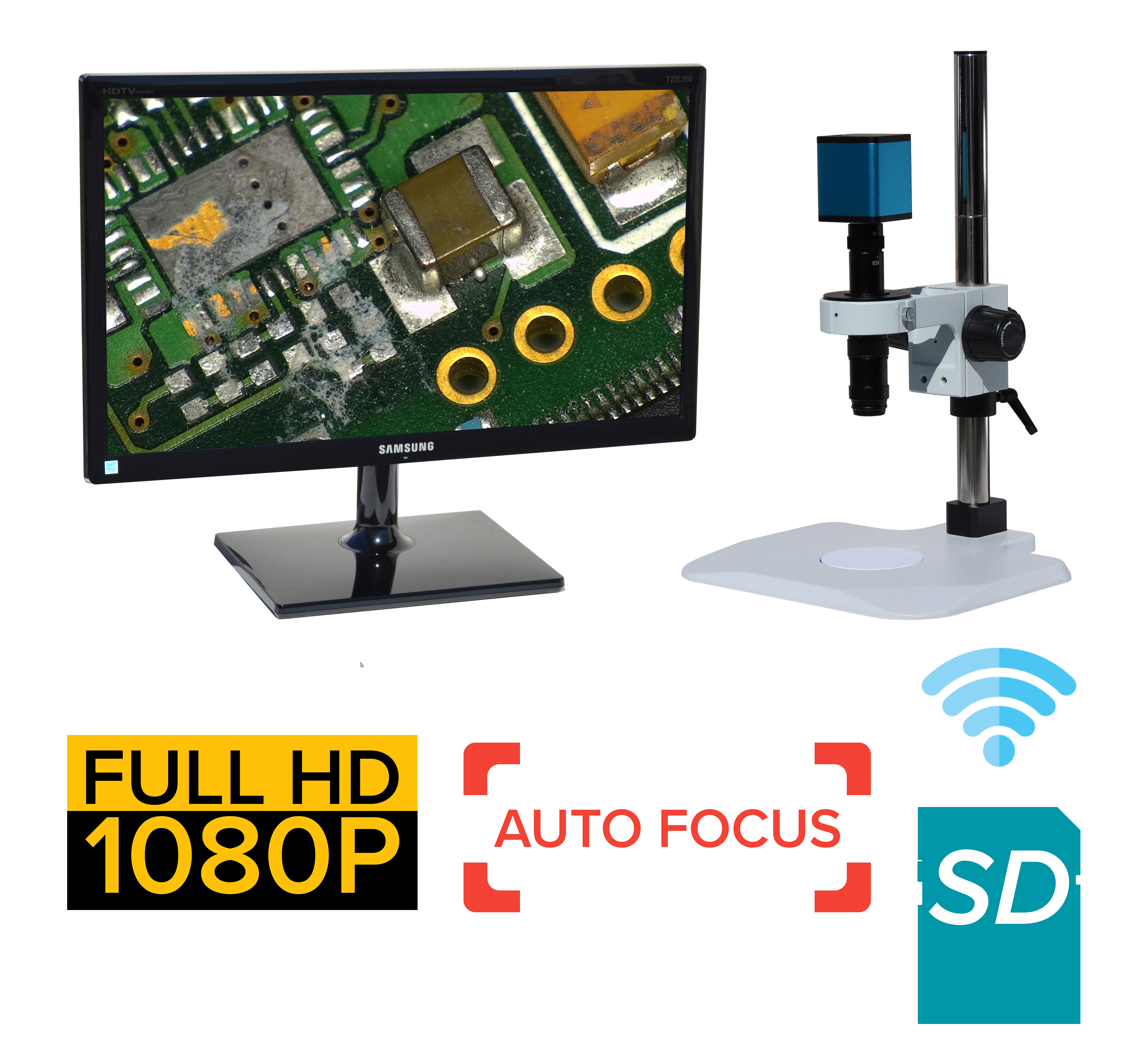 eHDAF202 series 12x-639x Auto Focus + Wi-Fi + HD1080p + SD card [Start at $2100]