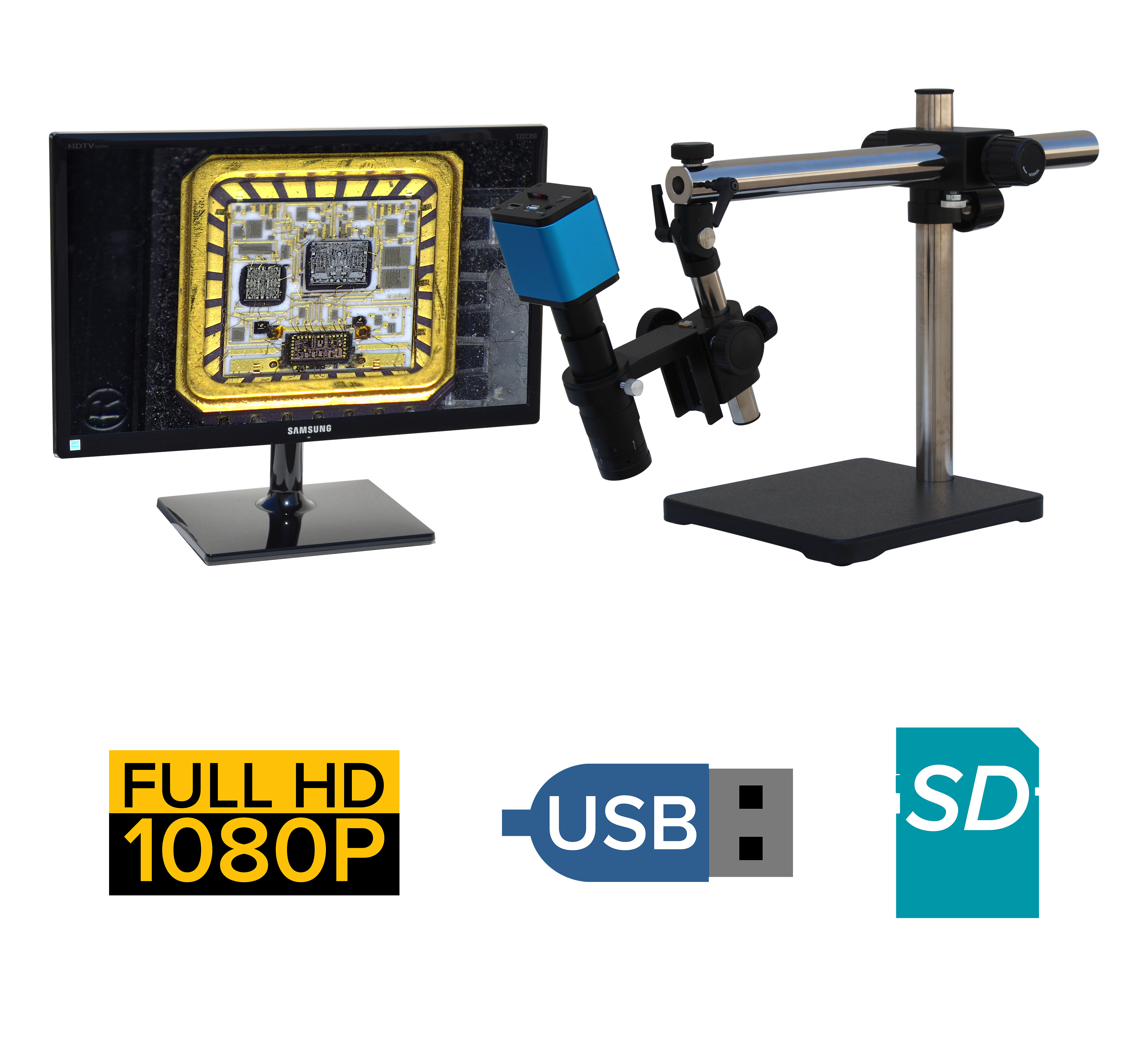 eHD305  series 36x-229x or possible 18x-457x + HD1080p + SD Card + USB + Measurement Option [Starting at $1000]