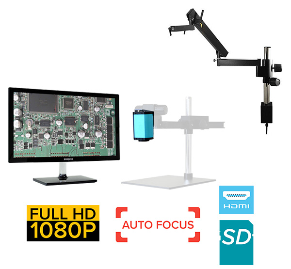 eHDAF600 series standard 0x-22x or digital 22x-132x Auto Focus + HD 1080p + SD Card + Measurement Option [Start at $1500]