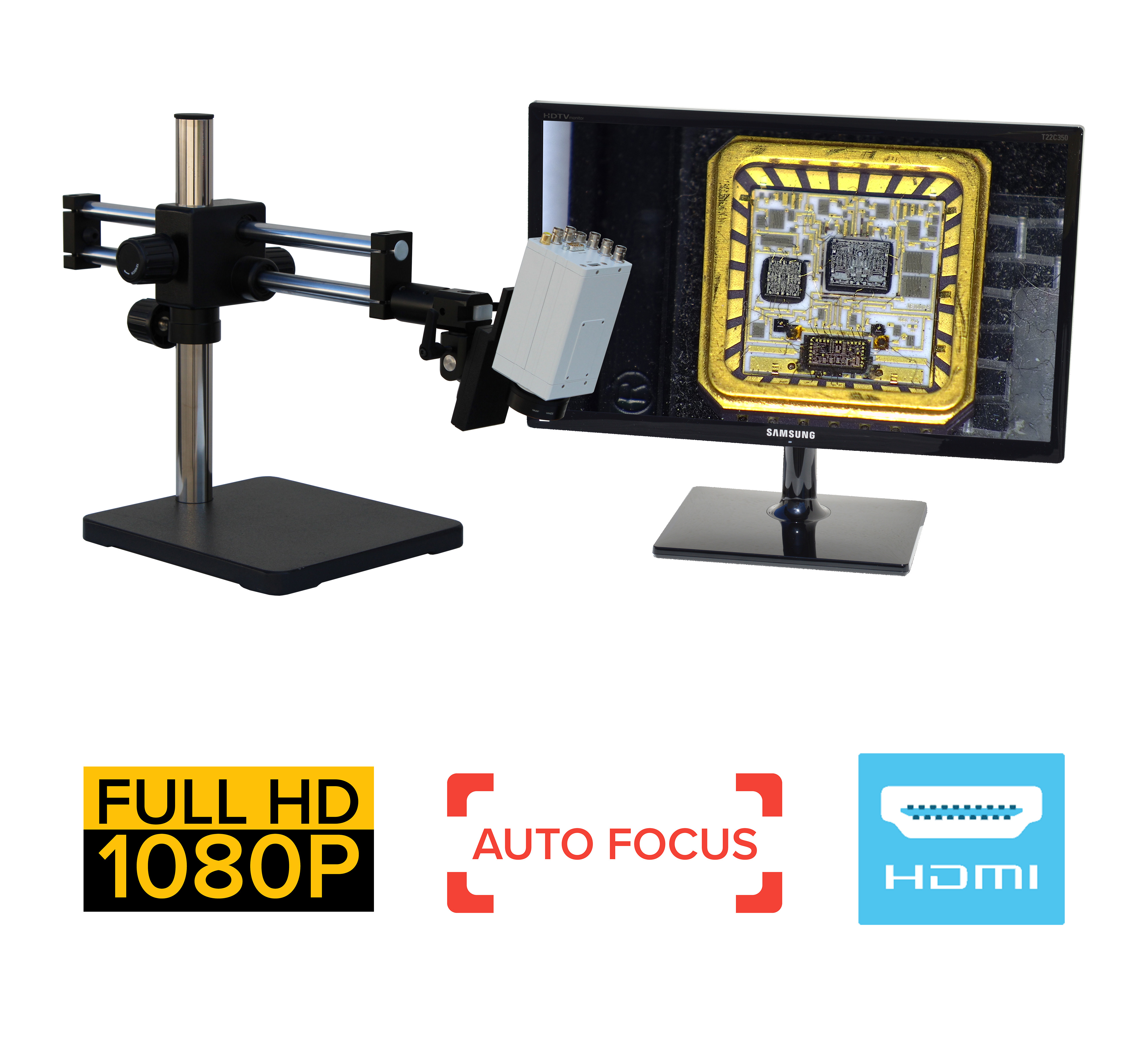 eHDAF900 series 2.5x-105x standard Auto Focus + HD 1080p + USB + Measurement Option [Start at $4995]