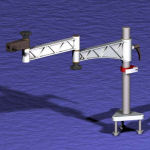 Swing Arm Table Mount Stand Components