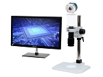 5x-106x 4K Ultra HD Pure HDMI Digital Microscope 4K301LBS with LED ring light/diffuser glass and Basic Stand