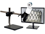 5x-106x 4K Ultra HD Pure HDMI Digital Microscope 4K301LUS with LED ring light/diffuser glass and Universal Stand