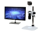 5x-122x Full HD 1080p Pure HDMI Digital Microscope HD701LBS with LED ring light/diffuser glass and Basic Stand