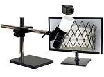 5x-122x Full HD 1080p Pure HDMI Digital Microscope HD701LUS with LED ring light/diffuser glass and Universal Stand