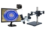 14x-1016x Full HD 1080p Pure HDMI Digital Microscope HD706LDU with LED ring light and Dual Sliding Bearing Arm Stand