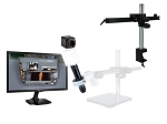 14x-1016x Full HD 1080p Pure HDMI Digital Microscope HD706LGC with LED ring light and Gliding Arm Stand, Clamp Type