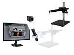 14x-1016x Full HD 1080p Pure HDMI Digital Microscope HD706LGS with LED ring light and Gliding Arm Stand