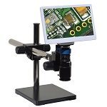 eHD801LUSm12 HD 1080p Digital Microscope (2x-59x) with Universal Stand and 11.6 inch Retina HD Display