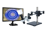 14x-1016x Full HD 1080p Digital Microscope eHD806LDU with LED ring light and Dual Sliding Bearing Arm Stand