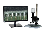 17x-914x Full HD 1080p Digital Microscope eHD802LBSBGA with LED ring light and Basic Stand for BGA Application