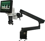 LCD Digital Video Microscope 8 inch Monitor Articulating Arm Stand LCDM8-AR