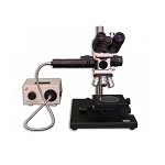 Meiji Techno MC-60T Binocular Incident and Transmitted Light Brightfield/Darkfield Tool Makers/Measuring Microscope