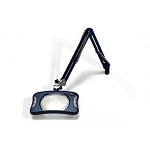 "Meiji MG900/2XBLU Rectangular 2x Magnifier 7"" x 5¼""with 43"" reach, with table edge clamp, Blue finish"