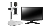 Scienscope Microscopes MAC-PK1-E2D-AF Auto Focus Digital Inspection System, Extended Post Stand, LED Ring Light