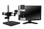 Scienscope Microscopes MAC-PK5D-E2D-AF Auto Focus Digital Inspection System, Dual Arm boom Stand, LED Ring Light