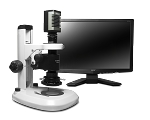 Scienscope Microscopes MZ7A-PK2-SC2-R3 SmartCam 2 Horizontal Micro-Zoom HDMI Inspection System, Dual LED Track Stand, LED Ring Light