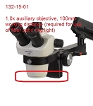 Unitron Microscopes 132-15-01 1.0x Auxiliary Objective (required for fiber optic ring light use)