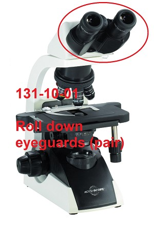 Accu-Scope Microscopes 131-10-01 Roll Down Eyeguards (1 pair)