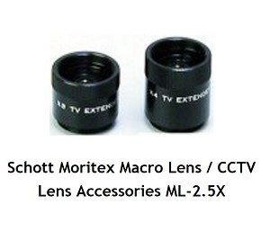 Schott Moritex Macro Lens / CCTV Lens Accessories ML-2.5X