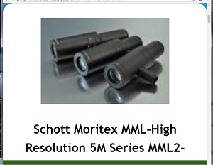 Schott Moritex MML-High Resolution 5M Series MML2-HR65VI-5M