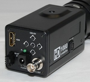 HD hdmi camera with 1080p or 720p display plus video output for