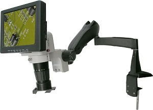 LCD Digital Video Microscope 8 inch Monitor Pneumatic Arm Stand LCDM8-PA