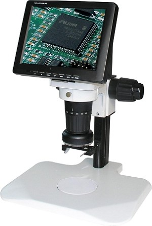 LCD Digital Video Microscope 8 inch Monitor Track Stand LCDM8-Track