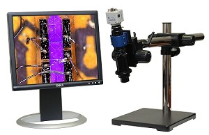 Digital USB Microscope 10x-800x Lens with Universal Stand and USB Camera M400-3-US-USB