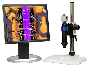 Digital USB Microscope 10x-800x Lens with Basic Stand and USB Camera M400-2-BS-USB